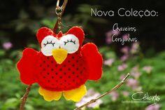 Chegando nossa mais nova coleção de chaveiros Corujinhas. ♡♡♡