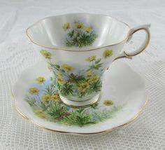 Royal Albert Yellow Flower Tea Cup and Saucer Sunnyside Series Susan