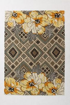 Very cool rug. Could see in a grays and yellows kind of room. Anthropologie