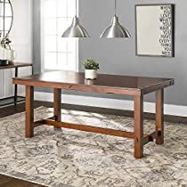 Check this out at Amazon Expandable Dining Table, Oak Dining Table, Kitchen Dining, Dining Set, Rustic Furniture, Furniture Decor, Brown Furniture, Farmhouse Furniture, Farmhouse Table