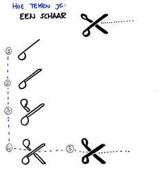 Hoe teken je een... schaar
