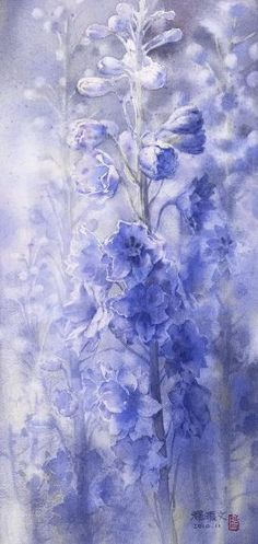 Watercolor on paper 2010 by Chen-Wen Cheng_ from Taiwan R. Watercolor Flowers, Watercolor Paintings, Painting & Drawing, Watercolours, Art Floral, Paintings I Love, Pictures To Paint, Oeuvre D'art, Painting Inspiration