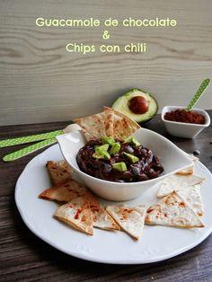 Mandil & Perejil: GUACAMOLE DE CHOCOLATE & CHIPS CON CHILI
