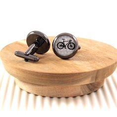 Vintage fix speed #bicycle #cufflinks - handmade.