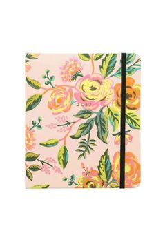 "The perfect size for carrying around, our Jardin de Paris planner is both beautiful with neon accents and functional. It features illustrated covers with gold foil and elastic closure. August 2016-December 2017.    Size: 8.25""×10""    2017 Jardin Planner by Rifle Paper Co. . Home & Gifts - Gifts - Stationery & Office Austin, Texas"