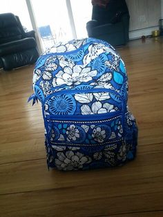 Blue bayou vera bradley backpack. I REALLY WANT THIS FOR SCHOOL!