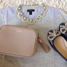 jcrew & monogram crossbody