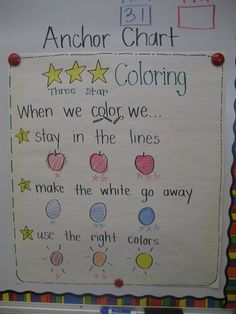 anchor charts for kindergarten | my crazy life in kindergarten: Anchor Charts and ... | Kindergarten...