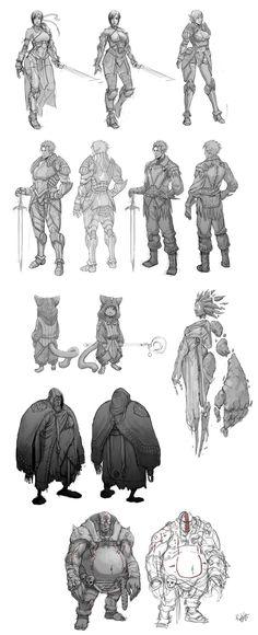 Helena, Mei, Kat, Character design, Character Art, Concept art