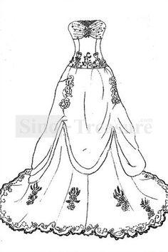 Luxury Ivory Strapless A Line Church Satin Organza Wedding Dress