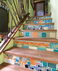 unpolished life: Broken tiles, stairs, creativity, & resourcefulness