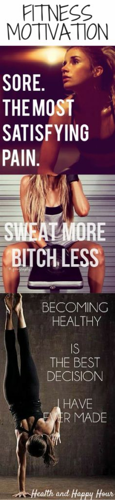 Some awesome quotes we complied for you - 15 Awesome Fitness Motivation Quotes/Pics For Women!