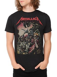 Metallica The Four Horsemen T-Shirt, BLACK