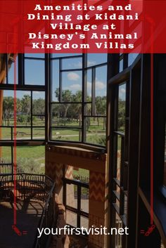 Disney Vacation Club (DVC): A Look at the Amenities and Dining you'll find at Kidani Village at Disney's Animal Kingdom Villas | from yourfirstvisit.net | #DVC #DisneyVacationClub #kidani #AnimalKingdomLodgeVillas #DisneyWoldTips #DisneyWorldDining Disney World Deals, Disney World Resorts, Disney Vacation Club, Disney Vacations, Kidani Village, Dining At Disney World, Saratoga Springs Resort, Key West Resorts, Grand Floridian Disney