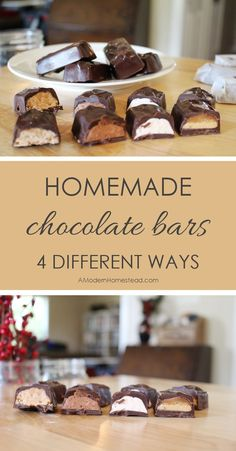 Skipping processed candy is hard especially during candy-centric holidays! Here are a few homemade chocolate bars that you can make to capture those flavors without all the processed junk!
