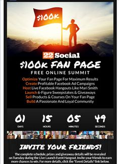 The Fan Page Summit - 30 days of supercharged training, know how tips and proven strategies designed to Showcase your social business like No Other!