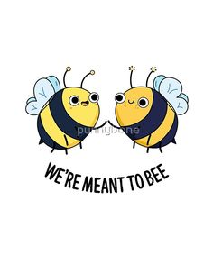 'Meant To Bee Insect Animal Pun' Sticker by punnybone , Funny Food Puns, Punny Puns, Cute Jokes, Cute Puns, Funny Memes, Kid Puns, Animal Puns, Pun Card, Funny Illustration