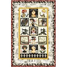 Quilting Treasures She Who Sews Janet Wecker Frisch Quilt Cotton Fabric BTY Kit #QuiltingTreasures