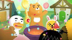 카카오프렌즈와 함께 악당을 쫓아가자! Kakao Friends, Cute Designs, Emoji, Latest Trends, Korea, Geek Stuff, Bear, Cartoon, Sweet
