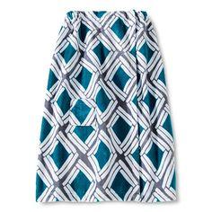 Room Essentials™ Diamond Body Wrap - Teal Blue/Gray Mist