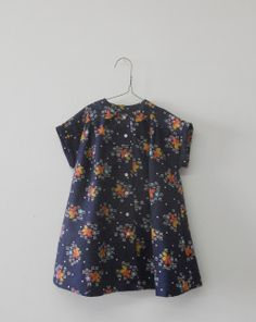 wolfechild vintage floral dress--- great style for converting dad's shirt