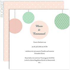 Hochzeitskarten Quadratisch - Pünktchen