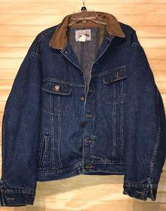 Lee Storm Rider Sz 56 L Trucker Denim Coat Jacket  #Lee #JeanJacket