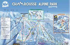 Plan des pistes de Chamrousse.  http://www.chamrousse.com