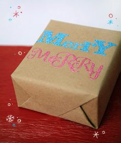 10 Last minute easy giftwrap ideas using items you probably already have at home.