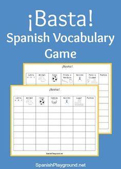 Basta Game for Spanish Vocabulary Practice - Spanish Playground