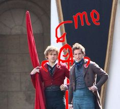Me, Marius, and Enjolras. Some will say this is photoshopped but don't believe them. They are just jealous.