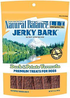 Natural Balance LIT Limited Ingredient Treats Jerky Bark Duck Potato Formula Dog Treats >>> Visit the image link more details. Dog Treats Grain Free, Dog Ages, Puppy Treats, Dog Varieties, Dog Snacks, Pet Supplies, Puppies, Pets, Nature