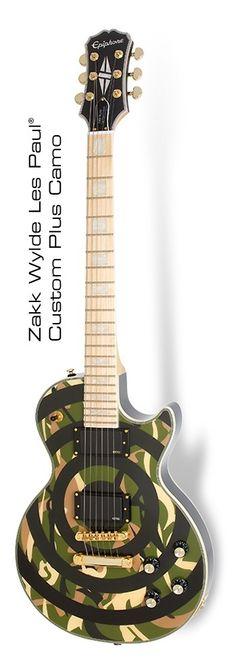 Epiphone Zakk Wylde Les Paul Custom Bullseye Camo Plus - Pre-owned