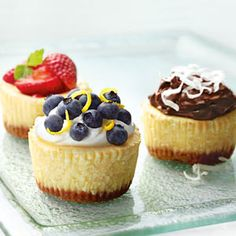 Mini Cheesecakes  Recipe provided by Philadelphia® Cream Cheese Want more holiday cheesecake and dessert recipes? Take a peek at our Sweets of the Season Guide.