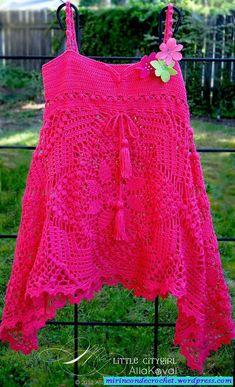 crochelinhasagulhas: Blusa pink em crochê