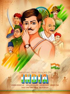 illustration of Tricolor India background with Nation Hero and Freedom Fighter like Mahatma Gandhi, Bhagat Singh, Subhash Chandra Bose for Independence Day Independence Day India Images, Independence Day Drawing, Happy Independence Day Wishes, Independence Day Poster, Independence Day Wallpaper, Independence Day Background, 15 August Independence Day, America Independence, National Flag India