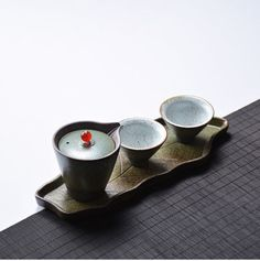 Japanese Style Pottery Tea Gift Set with Tea Tray for Loose Leaf Tea Kung Fu Tea