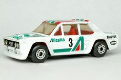 This is a Fiat Abarth, by Matchbox. Toy Model Cars, Old School Toys, Miniature Cars, Fiat Abarth, Matchbox Cars, Weird Cars, Metal Toys, Automobile, Courses