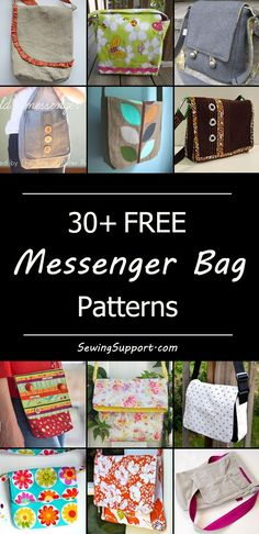 Free messenger bag sewing patterns, tutorials, and diy projects. Cute, crossbody bags, large and small styles for women, kids, and teens. Great for school.