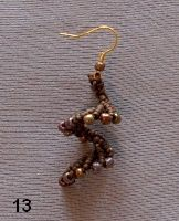 Macrame with beads: earrings spiral - Fair Masters - handmade, handmade in possible Russia language