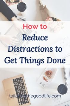 Sharing 6 tips to reduce inner and outer distractions and stay focused for more productivity. Learn what more you can do than turning off your notifications on your phone.#reducedistractions #distractions #focus
