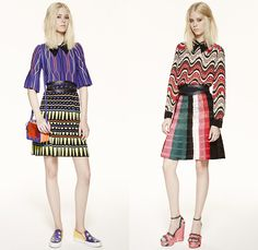 M Missoni 2016 Spring Summer Womens Lookbook Presentation - New York Fashion Week - Circus Carnival Trapeze Lurex Knit Ribbed Ruffles Capelet Illustration Waves Zigzag Stars Check Sheer Chiffon Wide Leg Trousers Palazzo Pants Culottes Stripes Onesie Jumpsuit Blouse Animals Tiger Belt Bow Silk Shorts Shirtdress Dress Tunic Geometric Tiered Embroidery Skirt Handbag Sneakers