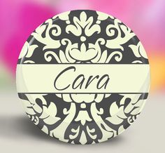 Wedding Favor Custom Pocket Mirror  Grey Ivory by SpotlightMirrors, $4.50