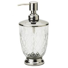 Lisbeth Dahl Harlequin Cut Glass Soap Dispenser - Lisbeth Dahl from Mollie & Fred UK