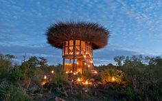 You Can Sleep Under the Stars in a Luxury 'Bird House' in Africa | You've probably had a hotel room with a view — but never one with a bird's eye view quite like this.