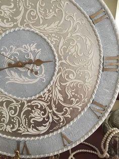 """Часы для дома ручной работы. Ярмарка Мастеров - ручная работа. Купить Часы настенные коллекция """"Нора"""" серебро. Handmade. Серебряный"""