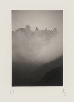 'Hérault Mountains' now available as a Platinum/Palladium Print...