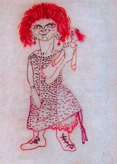 """Girl with Doll"" by Paul Klee (1879-1940, Switzerland)"