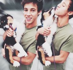 Cameron Dallas + dogs = sooo much love ! That dog is so cute :)