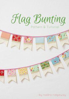 Quality Sewing Tutorials: Flag Bunting tutorial from Ellis & Higgs Fall Bunting, Patriotic Bunting, Mini Bunting, Christmas Bunting, Mini Flags, Bunting Garland, Buntings, Bunting Ideas, Photo Bunting